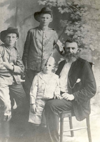 George Waddell and his 3 sons