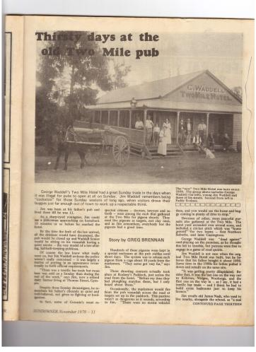 Two Mile Hotel article 1978