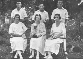 WADDELL Dorothy and Jim Tennis Kin Kin 1924 photo 2